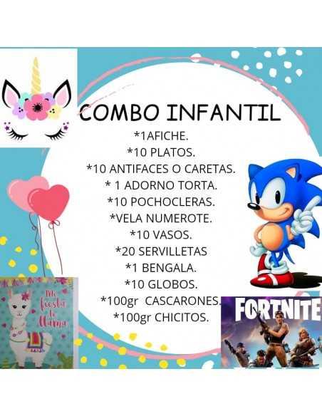 Combo Para Cumpleaños De UNICORNIO, COMBO INFANTIL