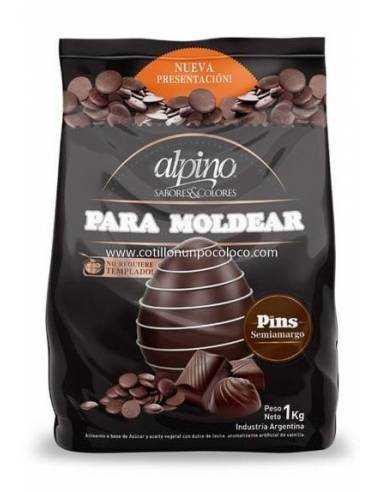 1 CAJA CHOCOLATE PIN SEMIAMARGO ALPINO