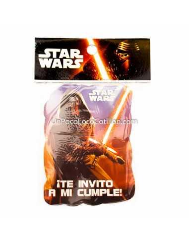 INVITACION CHICA STAR WARS x10