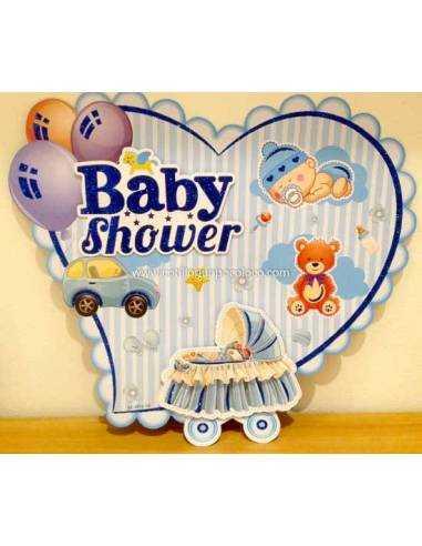 CARTEL 3D BABY SHOWER Y CUMPLE 45cm