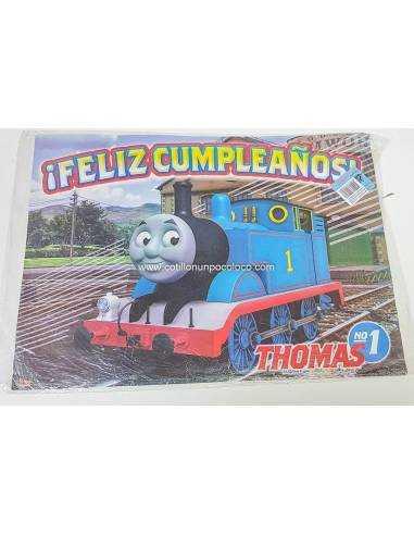 AFICHE FELIZ CUMPLE THOMAS EL TREN X1