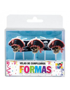 VELAS FORMAS SET PIRATA...
