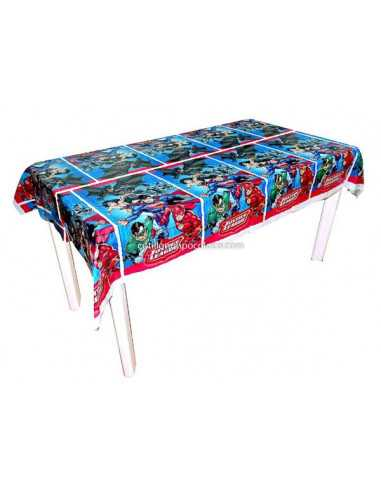 MANTEL PLASTICO JUSTICE LEAGUE x1
