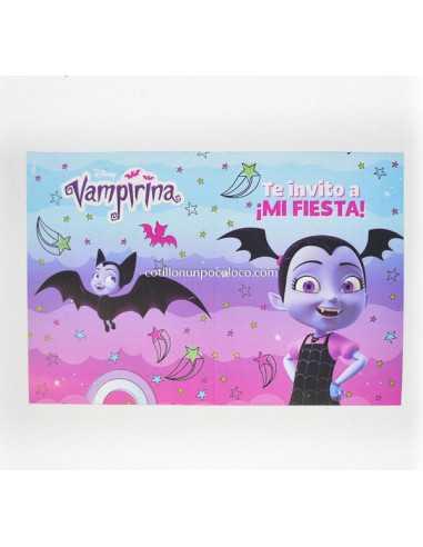 INVITACION LIBRITO VAMPIRINA X10