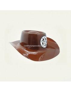 SOMBRERO SHERIFF MARRON CON...