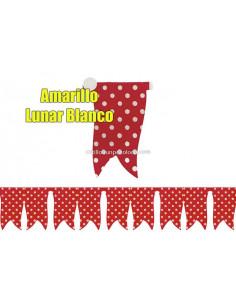 BANDERIN AMARILLO CON LUNAR...