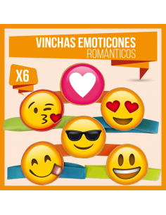 VINCHA EMOTICONES ROMANTICO...