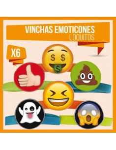 VINCHA EMOTICONES LOQUITOS X 6