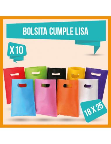BOLSITA CUMPLE LISA  18x25cm   x 10...