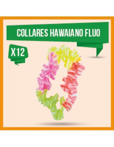 COLLAR HAWAIANO FLUO x 12