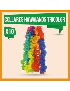 COLLAR HAWAIANO TRICOLOR x 10
