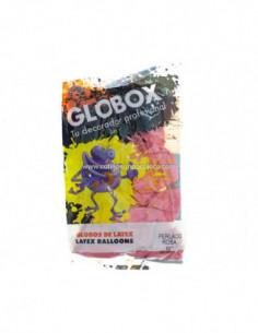 "GLOBO  9"" PERLADO ROSA x25"
