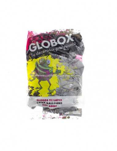 """GLOBO 12"""" PERLADO LISO PLATA x50"""