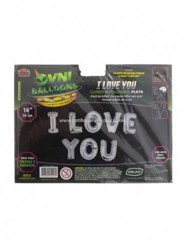 """OVN-SL1 14"""" GLOBO METAL  FRASE I LOVE..."""