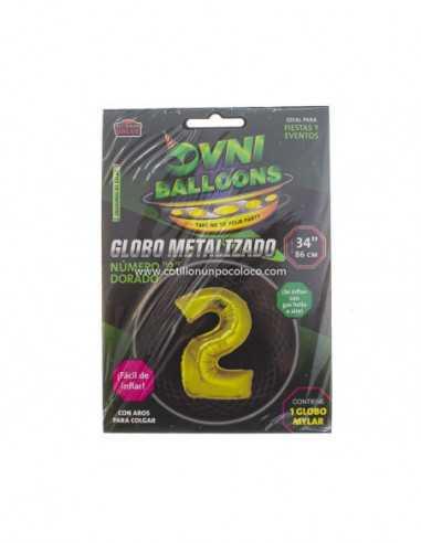 """OVN-SL1 34"""" GLOBO DORADO NUMERO 2 x1"""