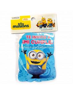 INVITACION CHICA MINIONS x10