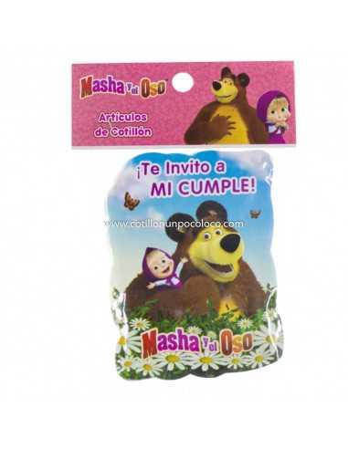 INVITACION CHICA MASHA Y EL OSO x10
