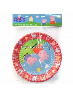 PLATO CARTON PEPPA PIG x10