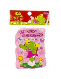 INVITACION CHICA SAPA PEPA x10