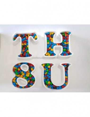 6 Letras Huecas Polifan Candy Bar!...