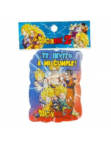 INVITACION CHICA DRAGON BALL Z x10