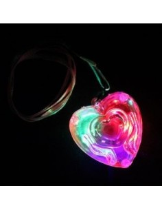 COLLAR CORAZON LUMINOSO LED...