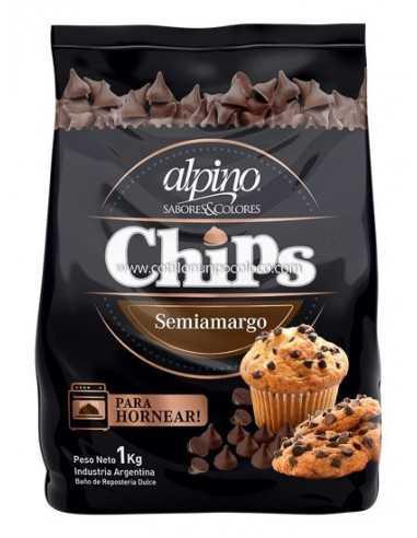 CHIP  SEMIAMARGO X100 g ALPINO